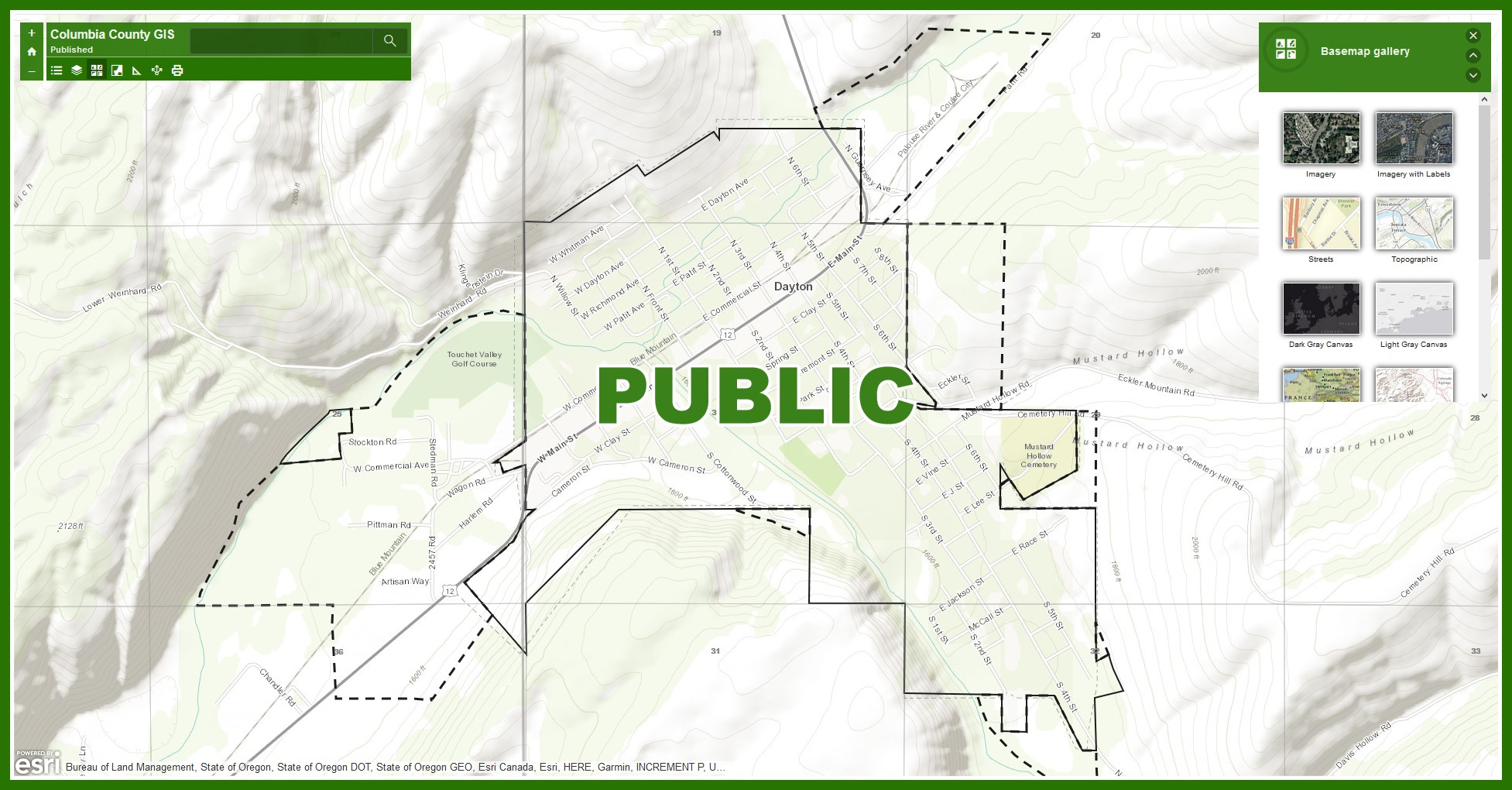 Columbia County, WA - Official Website - GIS